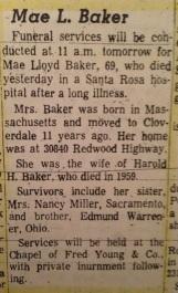 Mae Baker