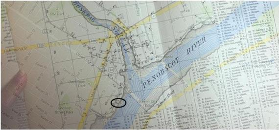 Bangor map overlay