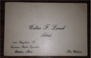 Walters business card
