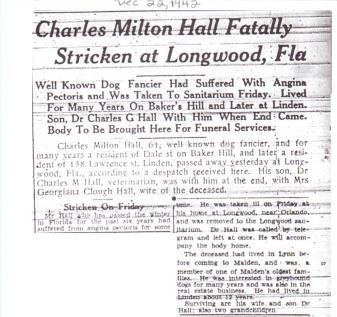 charles milton died