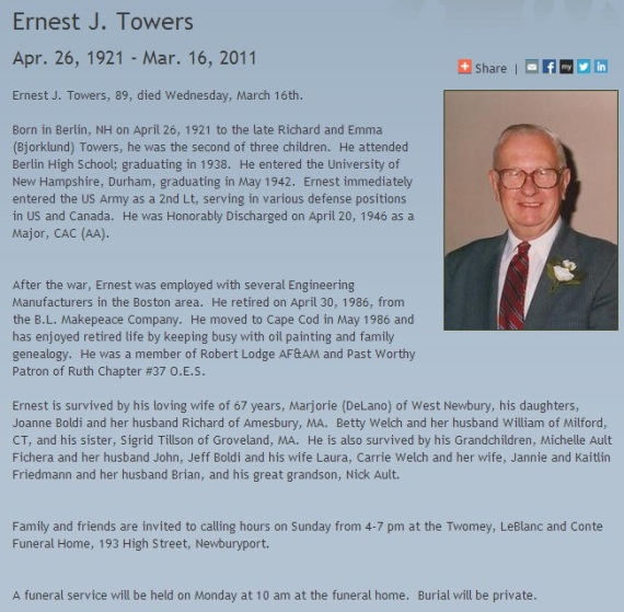 ernest towers