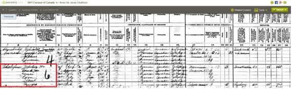 Napoleon census 1911