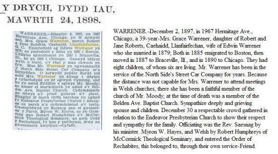 Grace Warrener death