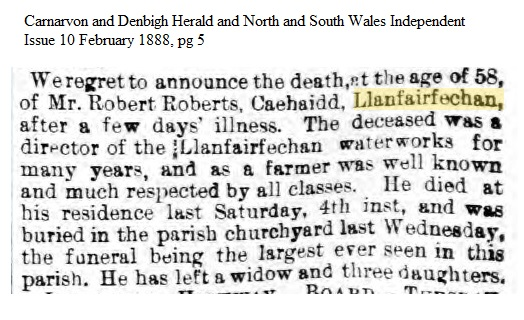 Robert Roberts death