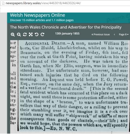 William Roberts death