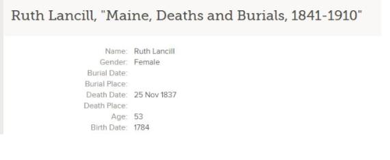 ruth death