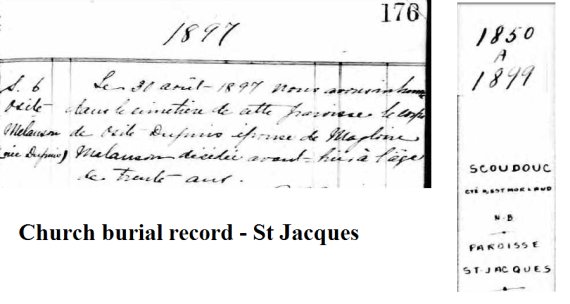 osite burial record