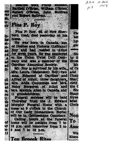 pius obituary