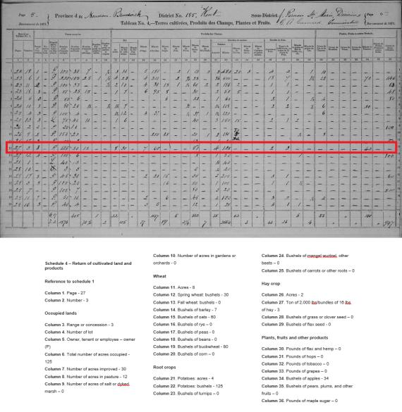 1871 census agriculture