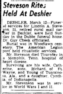 Stevenson death