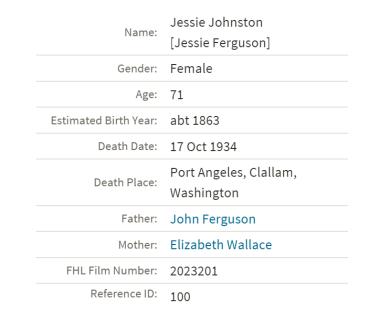 death jessie