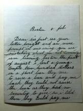 feb letter
