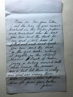john letter to sis
