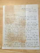 letter Jessie Dunn Allan to Mary Haines Stevens 1925 pg 1