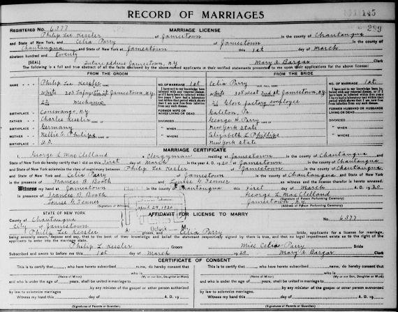 marriage Perry Kessler