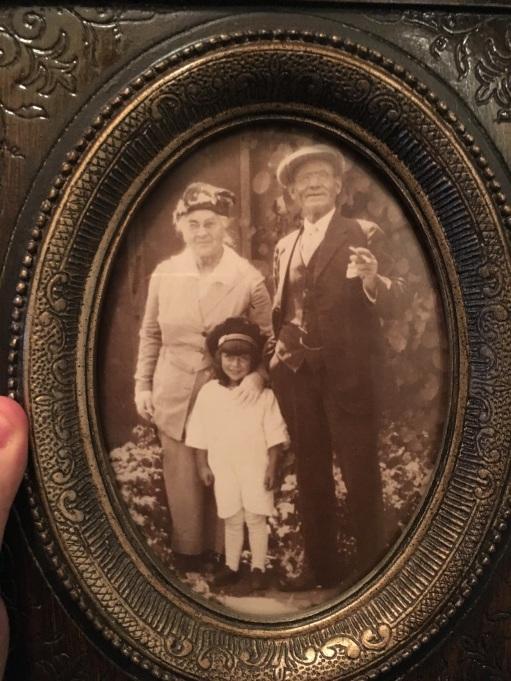 Mary Steves her brother W John Haines nd grandson Ralph Stevens