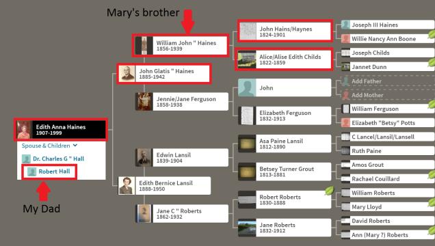Marys chart